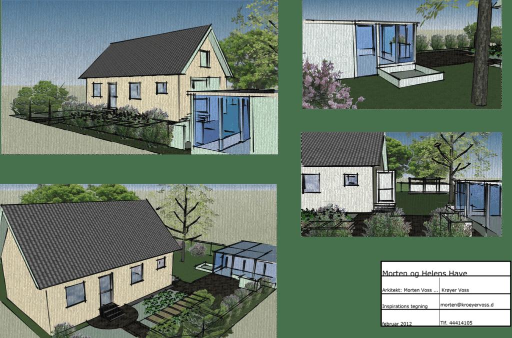 3d tegning af hus&have